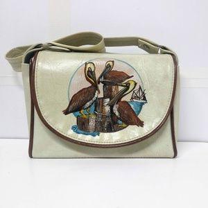 Vintage Original Florida Keys Handbag Pelicans